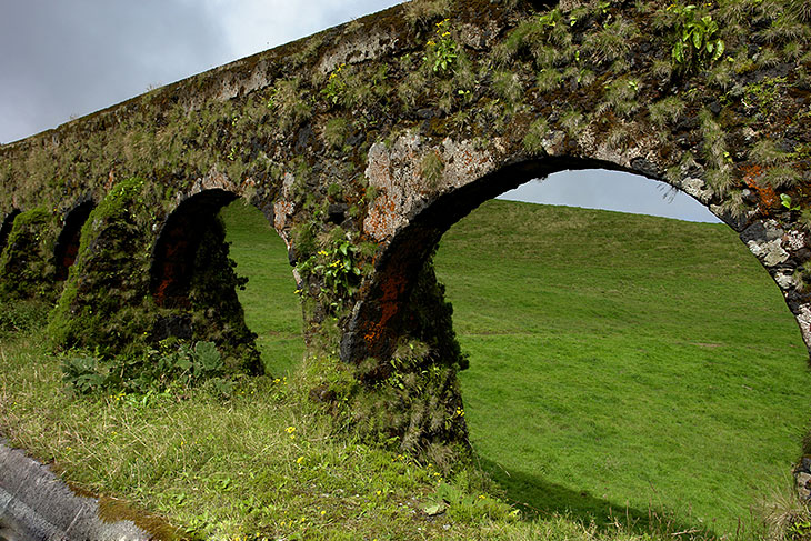 Old Aqueduct in open pastures