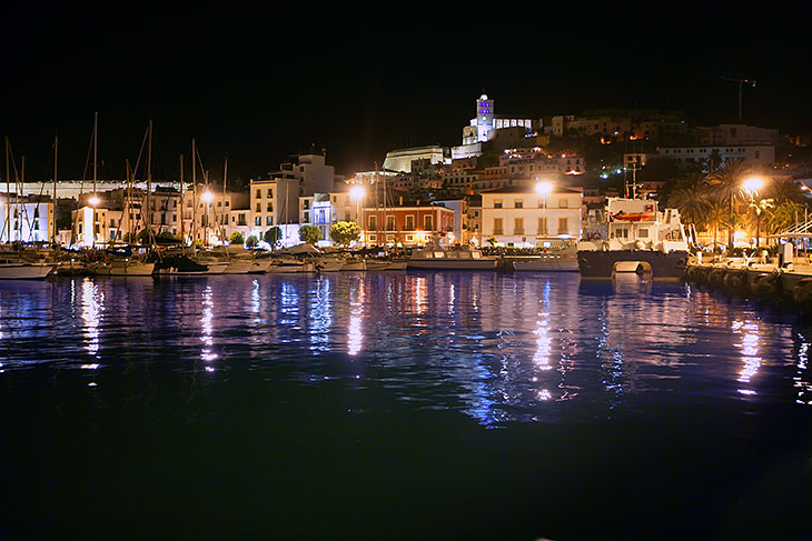 Ibiza Town at night