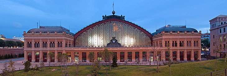 The Atocha train station