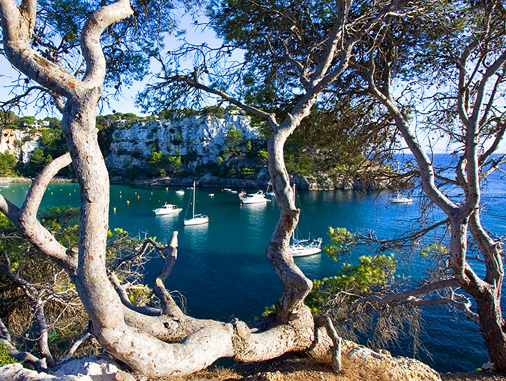 View of Minorca's stunning coastline