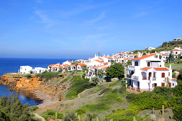 Typical villas on Minorca