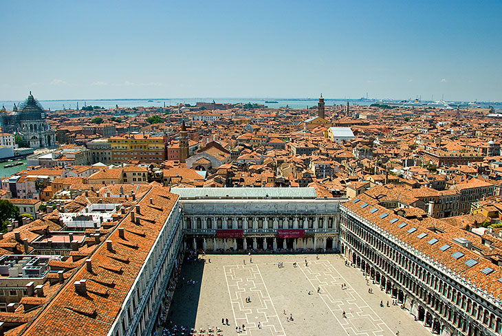 Panoramic view of Piazza San Marco